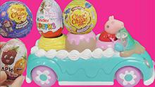 <B>小猪</B><B>佩奇</B>雪糕车送奇趣蛋
